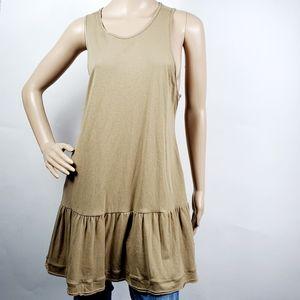 Free People Peplum Sleeveless Tunic Dress Small